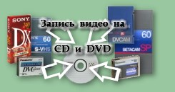 Запись видео на DVD c видеокассет VHS, SVHS, Video8, Hi8, Digital8, miniDV, DV, DVCAM, Betacam SP